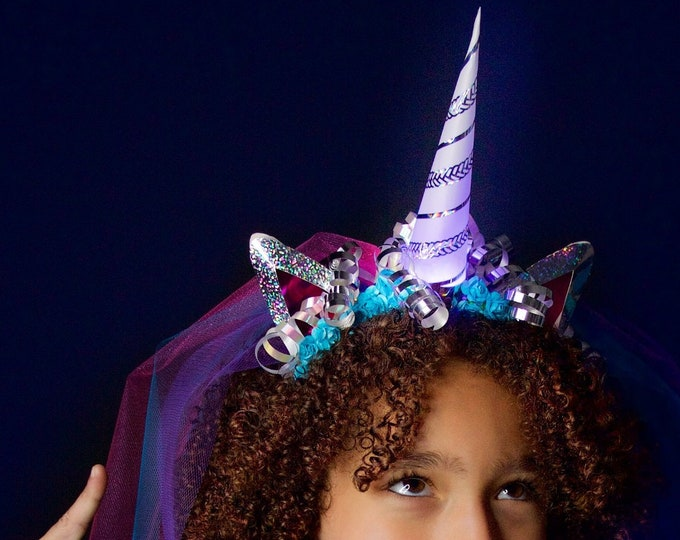 Unicorn Headband Kit - It Lights Up! LED Unicorn Horn Kit - STEAM Craft Kit
