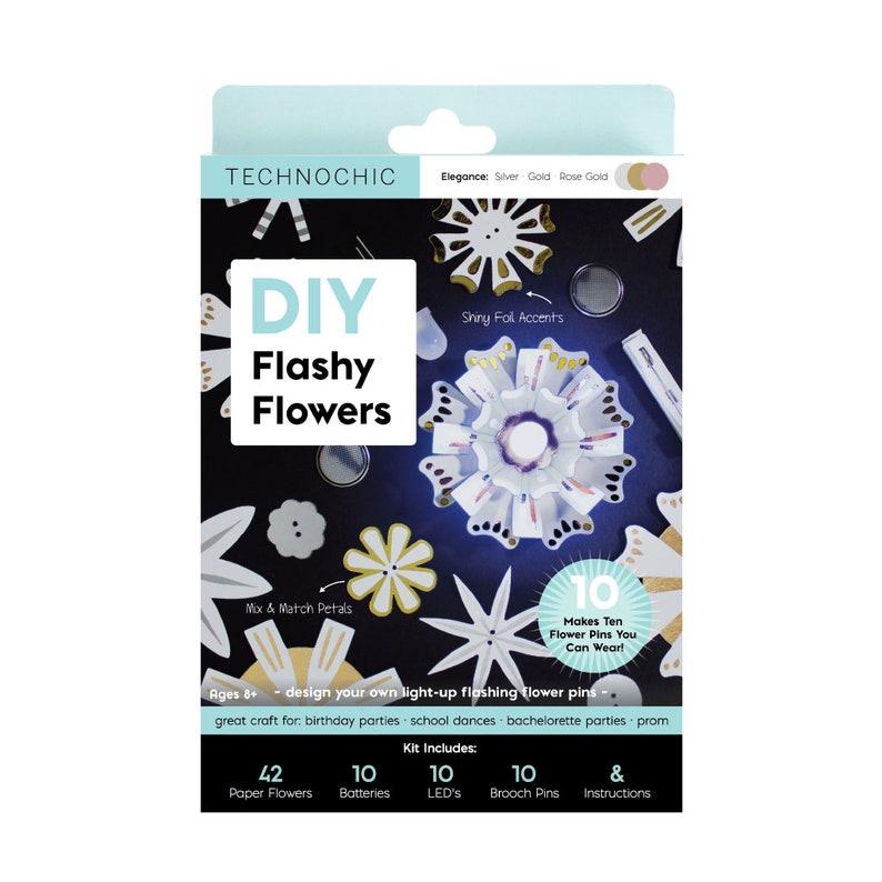 Light-Up Paper Flowers Party Kit  Makes 10  S.T.E.M. Kit image 0