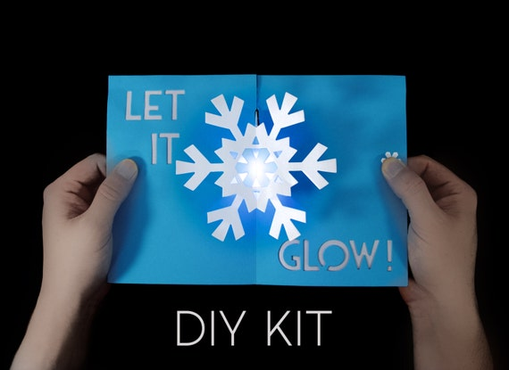 Snowflake Light Up Card Kit Greeting Card Kit Pop Up Card Etsy