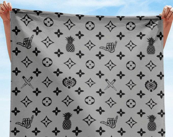 Towel - La Vida Piña x LVSD (Black & Gray)