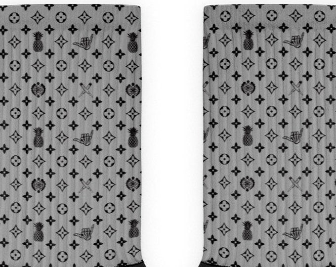 Socks - La Vida Piña x LVSD (Black & Gray)