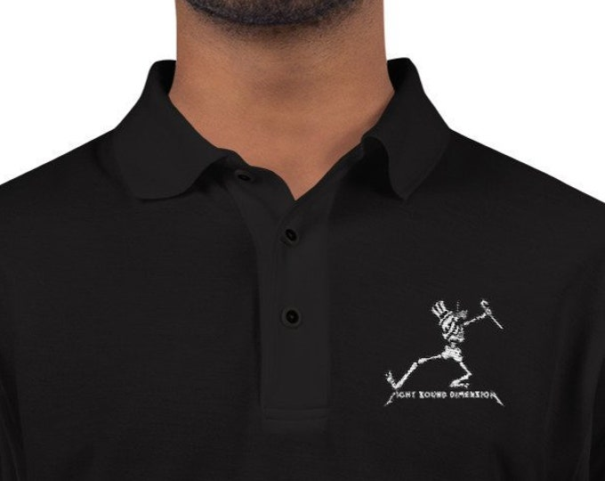 Men's Driving Polo - Dabbing Skeleton