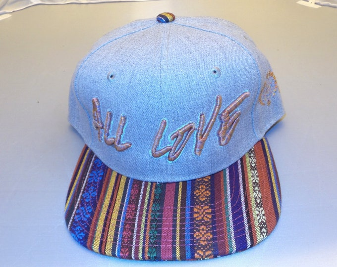 Snapback Flat-Brim Hat - All Love (One-of-a-kind)