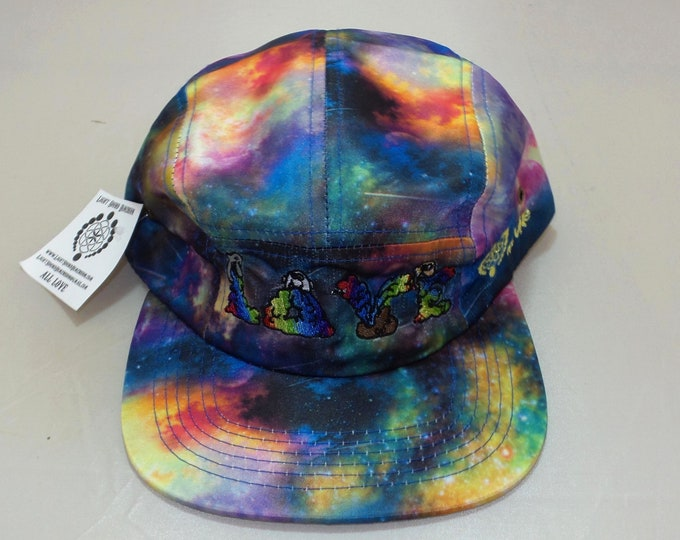 Strap-back Flat-Brim Hat - And Then There Were Rainbows (One-of-a-kind)