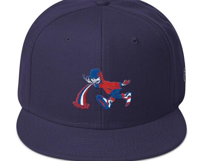 Snapback Flat-Brim Hat - Too Much Too Fast
