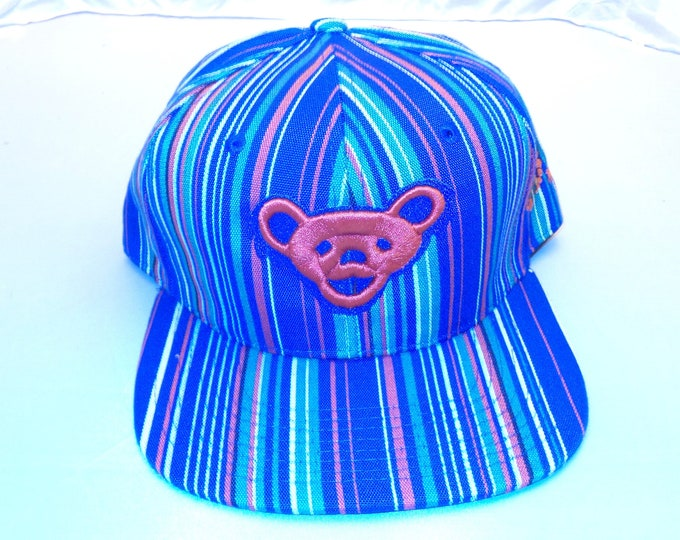 Snapback Flat-Brim Hat - Jerry Bear (One-of-a-kind)