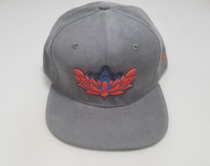 Snapback Flat-Brim Hat - Metatron's Lotus (One-of-a-kind)