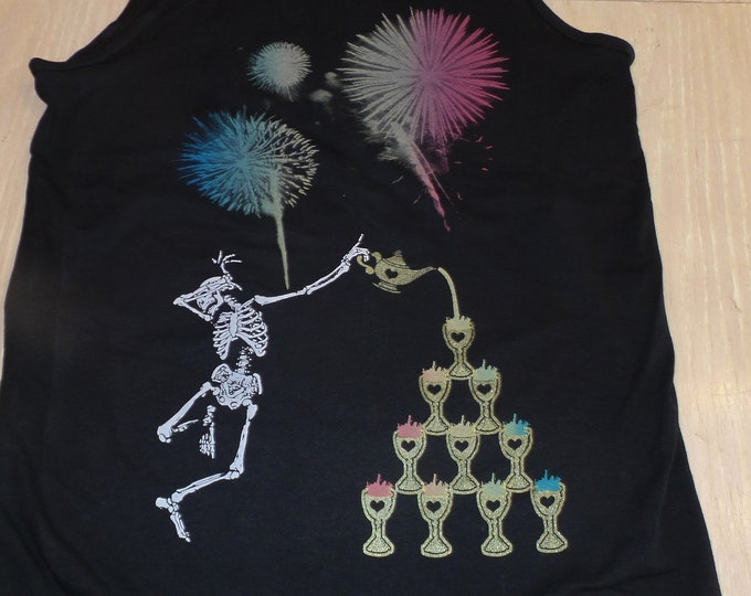 Men's Tank Top - Po' Up Rainbows (on Black)
