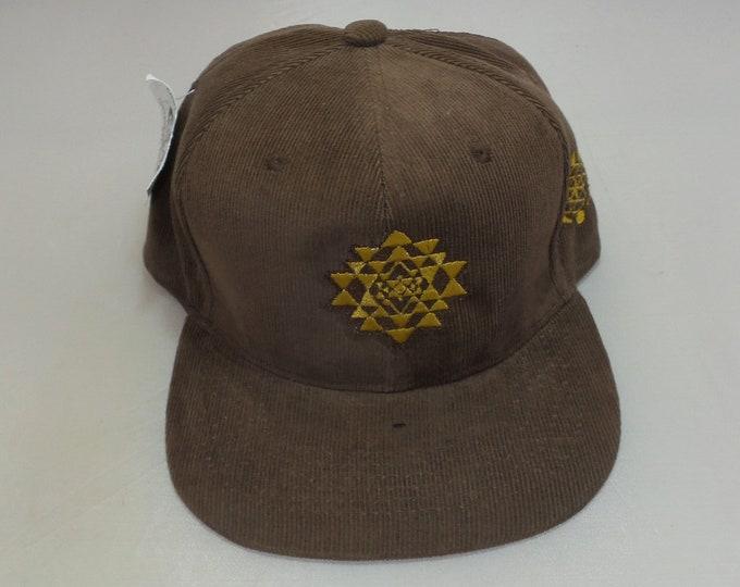 Snapback Flat-Brim Hat - Sri Yantra (One-of-a-kind)