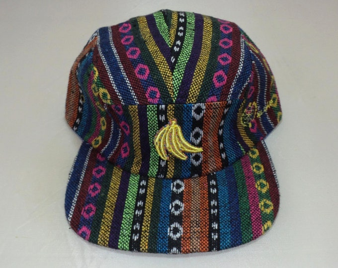 Strap-back Flat-Brim Hat - Bananas (One-of-a-kind)