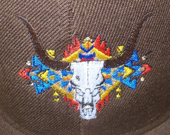 Fitted Flat-Brim Hat - The Buffalo