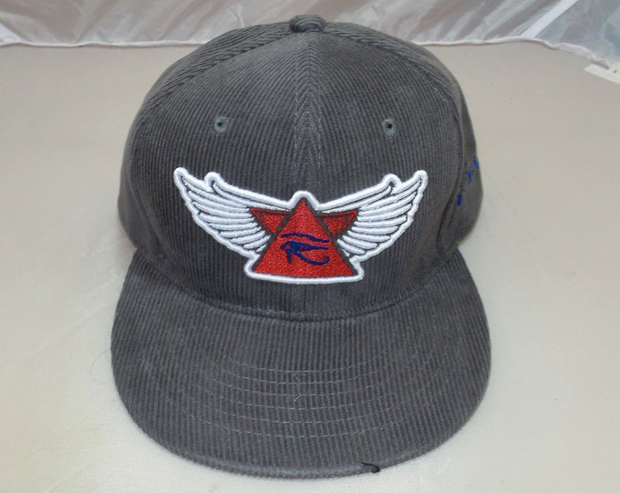 Buckle-back Flat-Brim Hat - 3D Wings of Horus (One-of-a-kind)