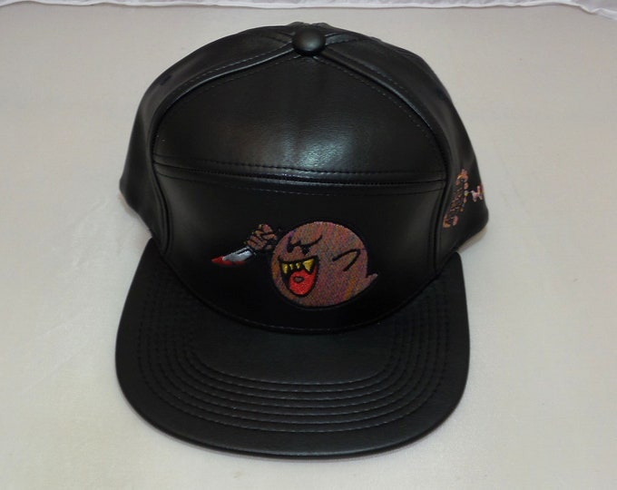 Adjustible-back Flat-Brim Hat - Ghostface Killa (One-of-a-kind)