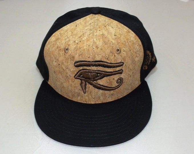 Snapback Flat-Brim Hat - 3D Eye of Horus (One-of-a-kind)