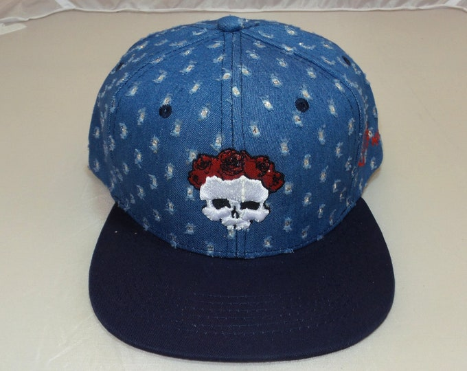 Snapback Flat-Brim Hat - 3D Bertha (One-of-a-kind)