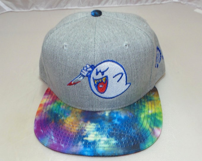 Snapback Flat-Brim Hat - Ghostface Killa (One-of-a-kind)