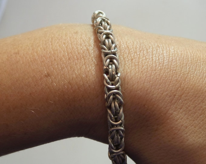 Bracelet - Silver Chainmaille