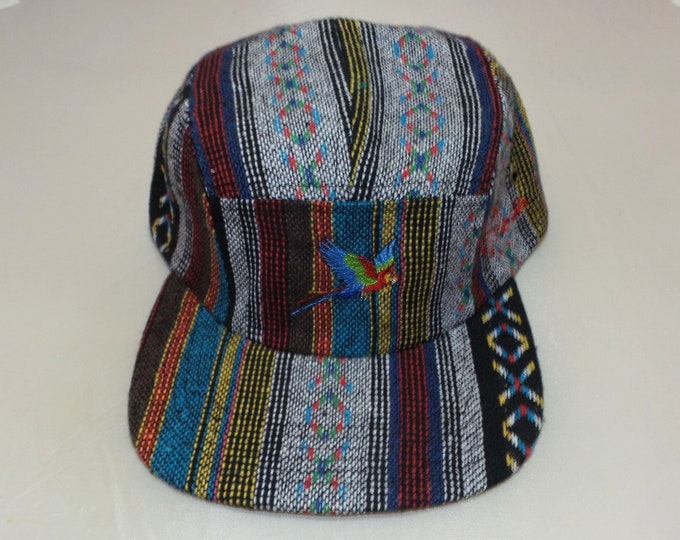 Strapback Flat-Brim Hat - Parrot (One-of-a-kind)