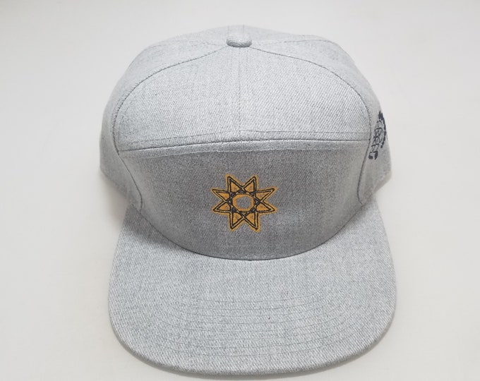 Snapback Flat-Brim Hat - Alchemy of Creation (One-of-a-kind)