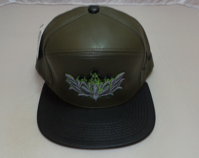 Strap-back Flat-Brim Hat - Metatron's Lotus (One-of-a-kind)