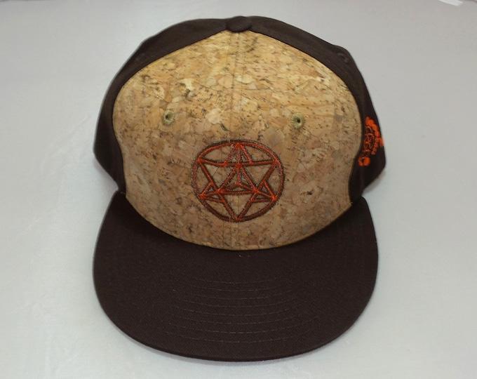 Snapback Flat-Brim Hat - Star Tetrahedron (One-of-a-kind)