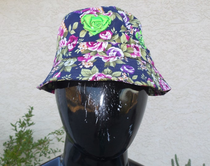 Bucket Hat - Heart Rose (One-of-a-kind)