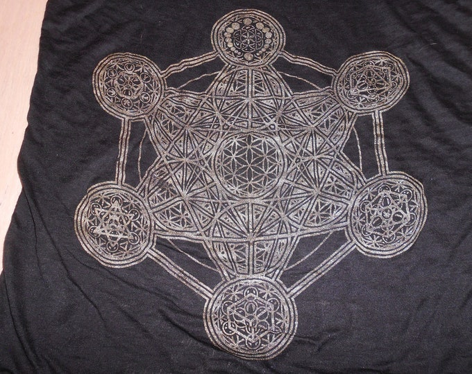 Women's Tank Top - Metatron's Elements (Gold on Burnout)