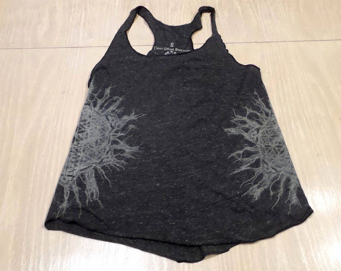 Women's Tank Top - Stealie of Lightning (Silver on Charcoal)