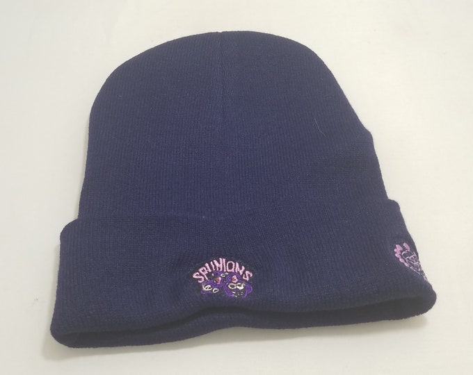 Sock Hat - Spunions (Purple on Navy)