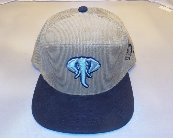 Snapback Flat-Brim Hat - Elephant (One-of-a-kind)