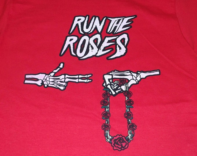 T-Shirt - Run The Roses (on Red)
