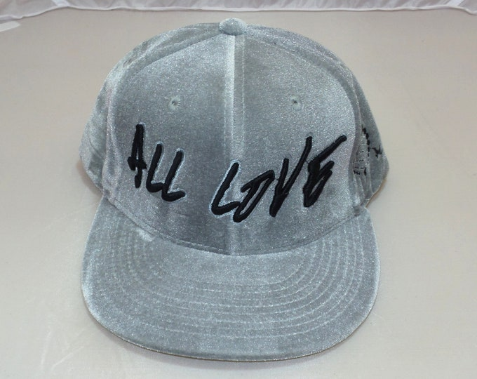 Snapback Flat-Brim Hat - All Love (One-of-a-kind)