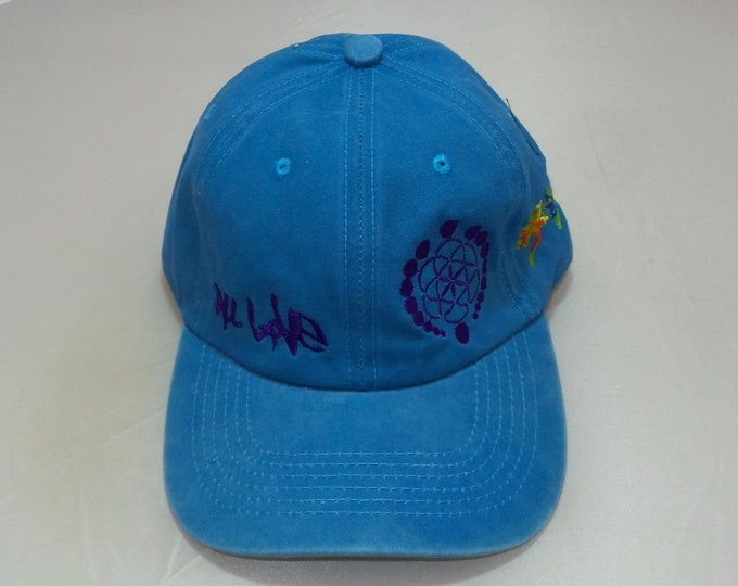 Buckle-back Bent-Brim Hat - All Love Lizard (One-of-a-kind)