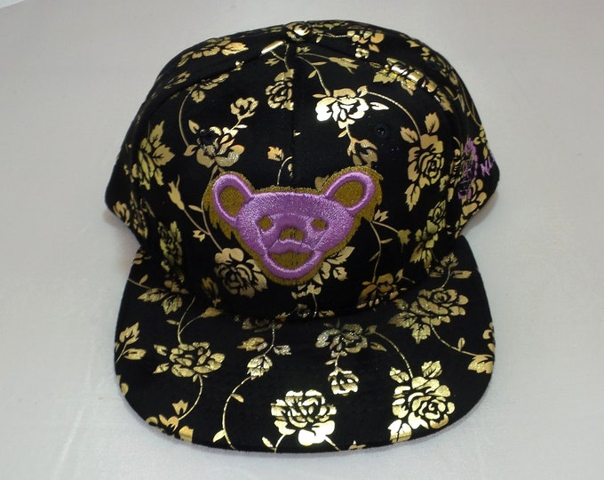 Strap-back Flat-Brim Hat - Jerry Bear (One-of-a-kind)