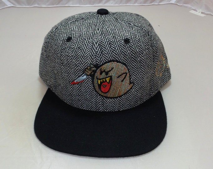 Snapback Flat-Brim Hat - Ghostface Killa (One-of-a-kind)