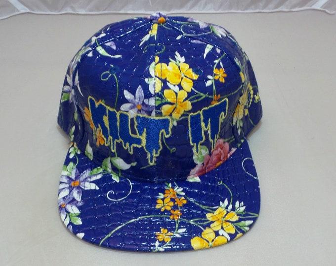 Snapback Flat-Brim Hat - Kilt It (One of a kind)