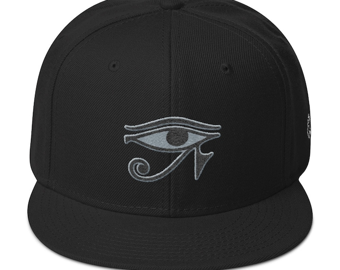 Snapback Flat-Brim Hat - Eye of Horus