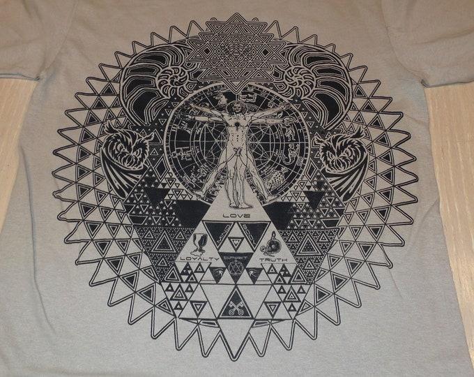 T-Shirt - Fractal of Self (Black on Sand)