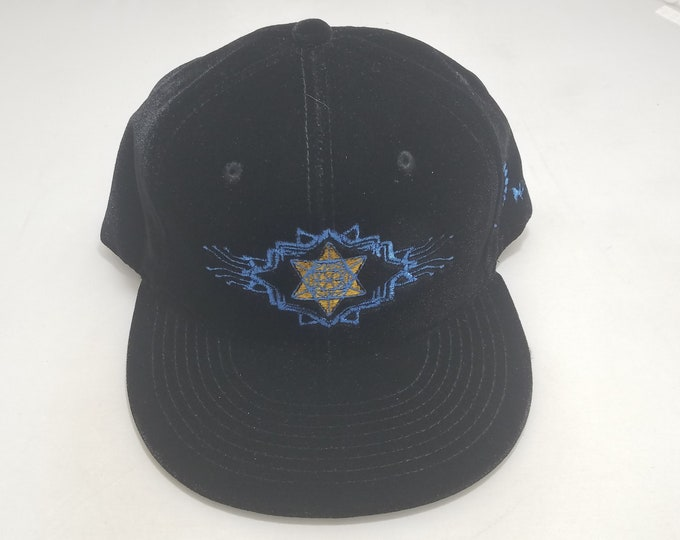 Snapback Flat-Brim Hat - Tron Tetrahedron (One-of-a-kind)