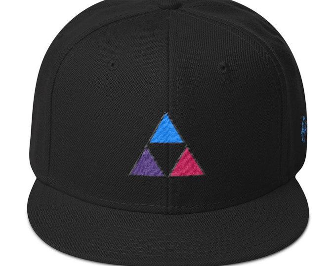 Snapback Flat-Brim Hat - Fire