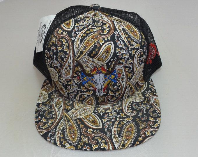 Snapback Flat-Brim Hat - The Buffalo (One-of-a-kind)