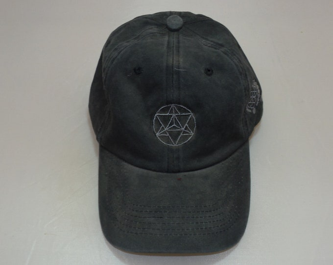 Buckle-back Dad Hat - Star Tetrahedron (One-of-a-kind)