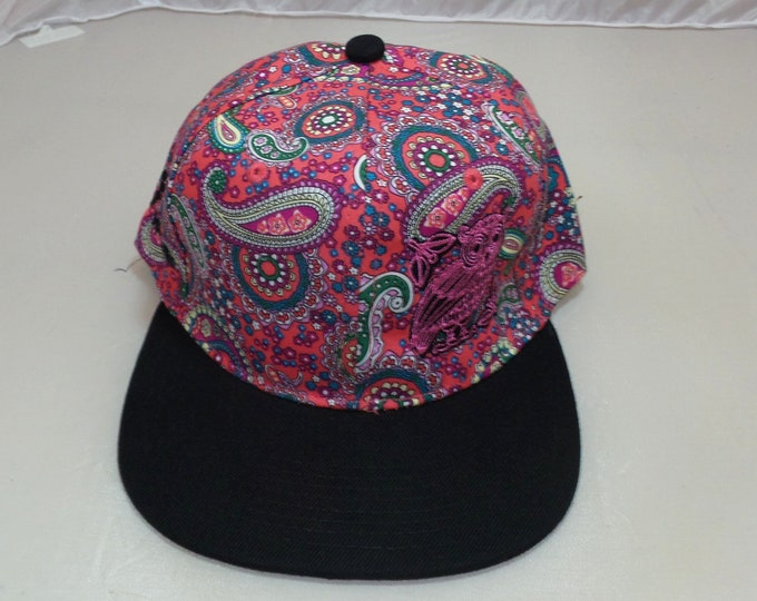 Snapback Flat-Brim Hat - Perched (One-of-a-kind)