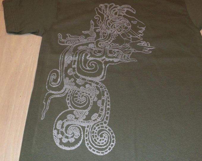 T-Shirt - Vision Serpent (Silver on Army)