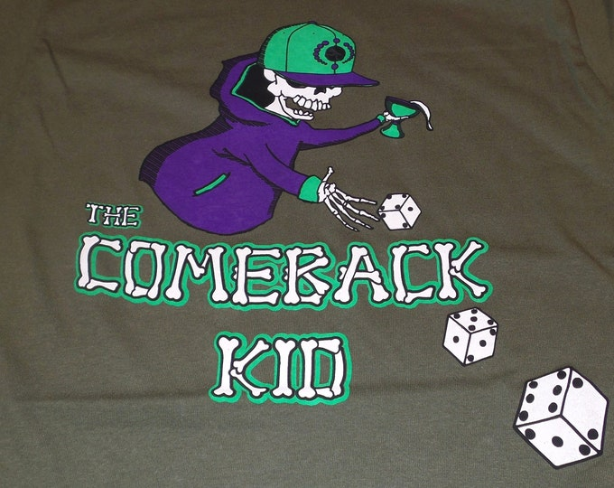 T-Shirt - The Comeback Kid (Multi on Army)