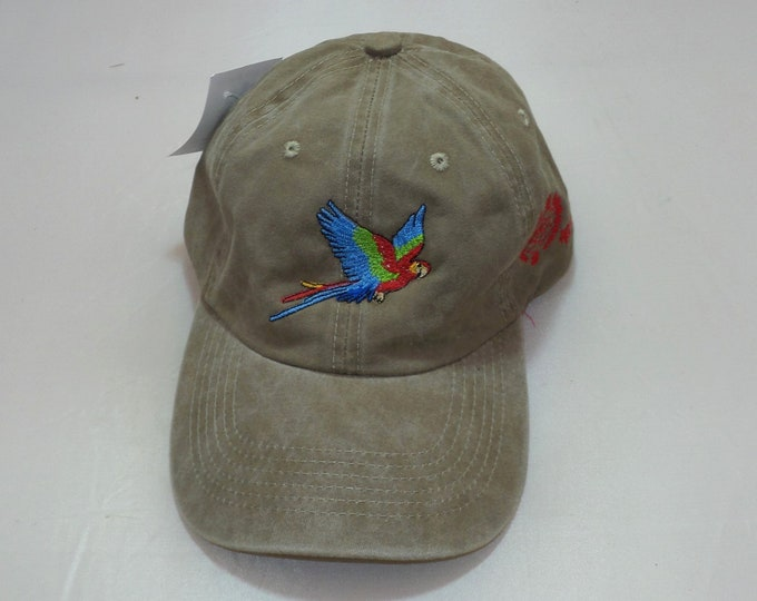 Buckle-back Dad Hat - Parrot (One-of-a-kind)
