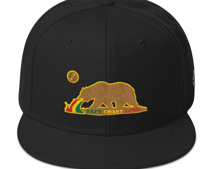 Snapback Flat-Brim Hat - Left Coast Love