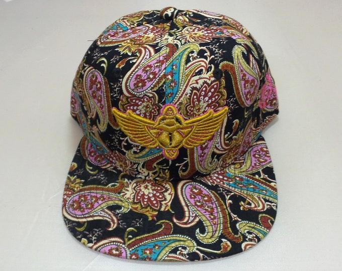 Snapback Flat-Brim Hat - Scarab (One-of-a-kind)