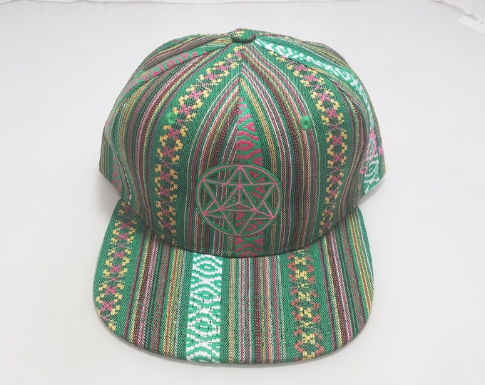 Snapback Flat-Brim Hat - Star Tetrahedron (One-of-a-kind)
