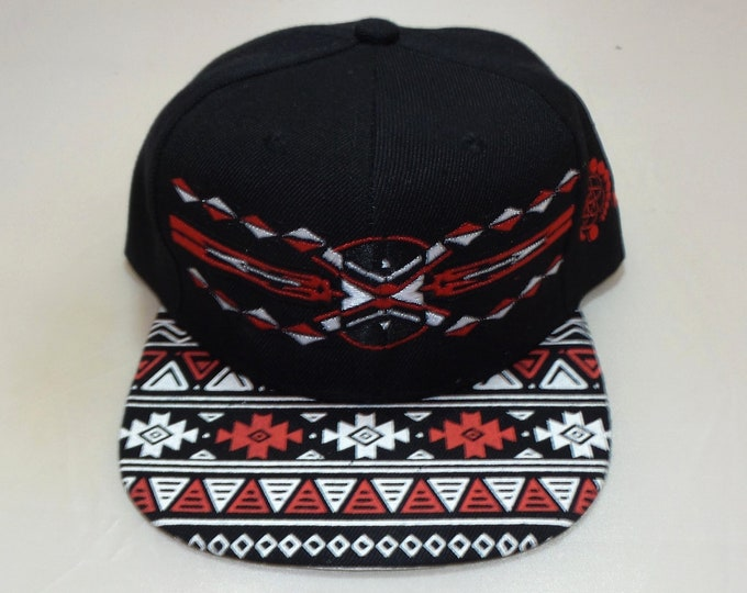 Snapback Flat-Brim Hat - Native (One-Of-A-Kind)